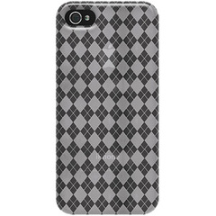 Amzer Luxe Argyle High Gloss TPU Soft Gel Skin Fit Case Cover - Clear For iPhone 5 - iPhone - Clear - Luxe Argyle - High Gloss - Thermoplastic Polyurethane (TPU