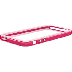 Macally Protective Frame Case (Pink Color) - iPhone - Pink, Red - Two-tone - Polycarbonate