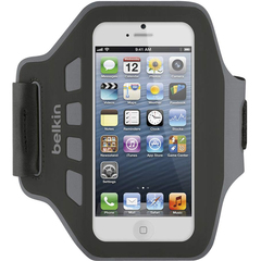 Belkin Ease-Fit Carrying Case (Armband) for iPhone - Blacktop - Water Resistant - Plastic