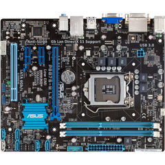 Asus P8B75-M LX PLUS Desktop Motherboard - Intel B75 Express Chipset - Socket H2 LGA-1155 - Micro ATX - 1 x Processor Support - 16 GB DDR3 SDRAM Maximum RAM - S