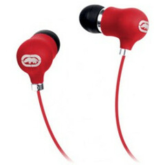 Ecko Unltd. Bubble Earbud - Stereo - Red - Mini-phone - Wired - 16 Ohm - 20 Hz - 20 kHz - Earbud - Binaural - In-ear - 3.94 ft Cable