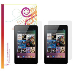 rOOCASE 4-Pack x2 Anti-Glare & x2 HD Clear Screen Protectors for Google Nexus 7 Tablet