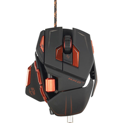 Cyborg M.M.O. 7 Gaming Mouse - Laser - Cable - Matte Black - USB 2.0 - 6400 dpi - Scroll Wheel - 15 Button(s)
