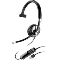 Plantronics Blackwire C710 Headset - Mono - USB - Wired/Wireless - Bluetooth - 20 Hz - 20 kHz - Over-the-head - Monaural - Semi-open - Noise Cancelling Micropho