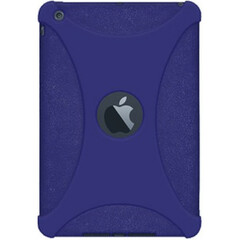 Amzer Silicone Skin Jelly Case - Blue for Apple iPad mini - iPad - Blue - Textured - Silicone