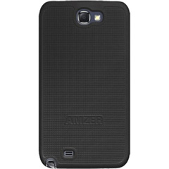 Amzer Snap On Case - Black for Samsung Galaxy Note II GT-N7100 - Smartphone - Black - Rubberized - Polycarbonate