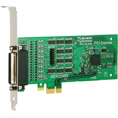 Brainboxes 4 Port RS422/485 PCI Express Serial Card - PCI Express x1 - 4 x DB-9 Male RS-422/485 Serial - Plug-in Card