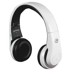 Manhattan Flyte Wireless Headset - Surround - White - Mini-phone - Wired/Wireless - Bluetooth - 32.8 ft - Over-the-head - Binaural - Circumaural