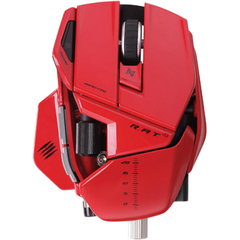 Mad Catz R.A.T. 9 Wireless Gaming Mouse for PC and Mac - Red - Laser - Wireless - Radio Frequency - Red - USB 2.0 - 6400 dpi - Scroll Wheel