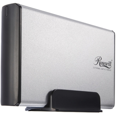 Rosewill RX35-AT-SU SLV Drive Enclosure - External - Silver - 1 x Total Bay - 1 x 3.5