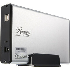 Rosewill RX35-AT-IU SLV Drive Enclosure - External - Silver - 1 x Total Bay - 1 x 3.5