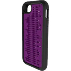 M-Edge Maverick 2-in-1 Case - iPhone - Purple - 3D Pattern - Velvety - Polycarbonate, Silicone, Plastic