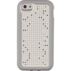 M-Edge Maverick 2-in-1 Case for iPhone 5 - iPhone - White, Gray - Circuit Board Pattern - Velvety - Polycarbonate, Silicone, Plastic