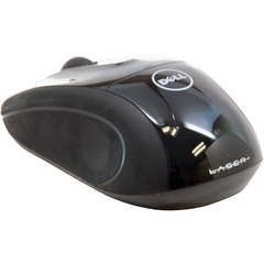 Dell WM413 Wireless Laser Mouse - Laser - Wireless - Radio Frequency - Glossy Black - USB - 1000 dpi - Scroll Wheel - 5 Button(s)