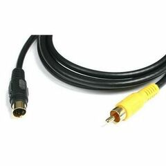 StarTech.com 10 ft S-Video to Composite Video Adapter Cable - MM - mini-DIN Male S-Video - RCA Male - 10ft - Black
