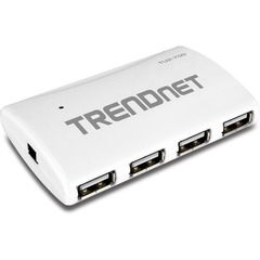 TRENDnet 7-Port High Speed USB Hub w/ Power Adapter - 7 x Type A USB 2.0 USB Downstream, 1 x Type B USB 2.0 USB Upstream - External