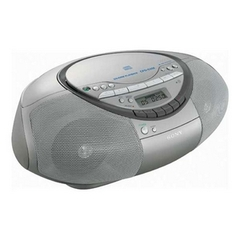 Sony CFD-S350 Radio / CD / Cassette Player Boombox - Silver