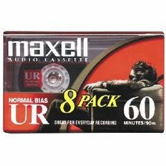 Maxell UR Type I Audio Cassette - 8 x 60Minute - Normal Bias