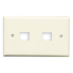 Belkin 2 Socket Keystone Network Faceplate - Unloaded Socket(s) - Ivory