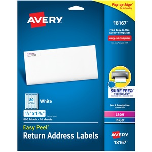 Avery Return Address Label AVE18167