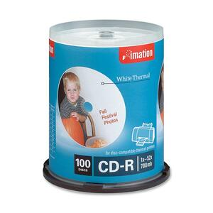 Imation CD Recordable Media - CD-R - 52x - 700 MB - 100 Pack Spindle IMN17274