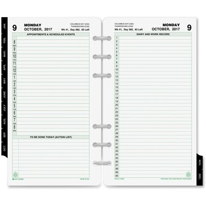Day-Timer 2 Pages Daily Planner Refill DTM10801
