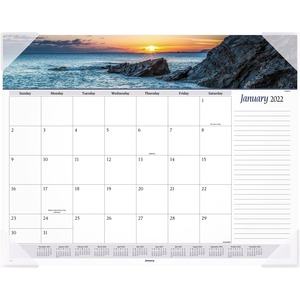 At-A-Glance Panoramic Seascape Desk Pad Calendar AAG89803