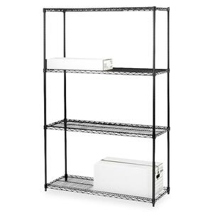 Lorell 4-Shelf Add-On Wire Shelving LLR70060