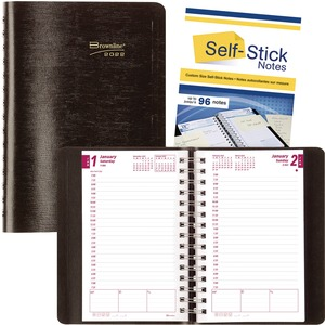 Rediform CB634WN 2-Part Carbonless Daily Planner REDCB634WNBLK