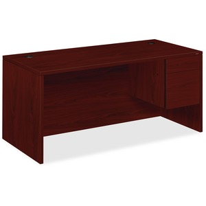 HON 10500 Series Right Single Pedestal Desk HON10583RNN