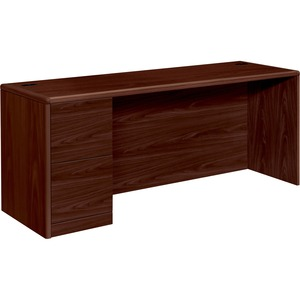 HON 10700 Series Credenza with Full-Height Left Pedestal HON10708LNN