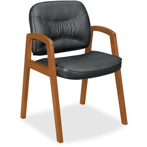 Basyx by HON VL803 Leather Guest Side Chair BSXVL803HST11