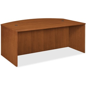 Basyx by HON BW Series Bow Front Desk Shell BSXBW2111HH