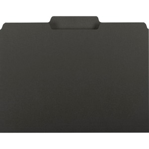 Smead Interior File Folder, 1/3-Cut Tab, Letter Size, Black, 100 per Box (10243)