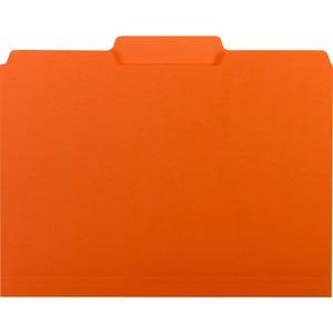 Smead Interior File Folder, 1/3-Cut Tab, Letter Size, Orange, 100 per Box (10259)