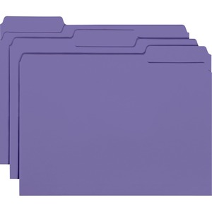 Smead 10283 Purple Interior File Folders SMD10283