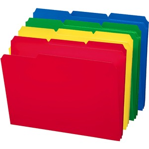 Smead 10500 Assortment Poly Colored File Folders SMD10500