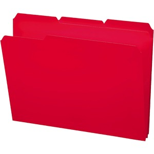 Smead 10501 Red Poly Colored File Folders SMD10501