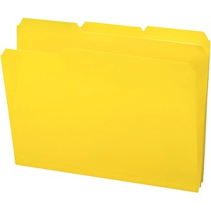 Smead 10504 Yellow Poly Colored File Folders SMD10504