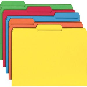 Smead 11993 Assortment Colored File Folders with Reinforced Tab SMD11993