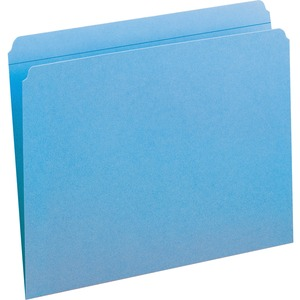 Smead 12010 Blue Colored File Folders with Reinforced Tab SMD12010