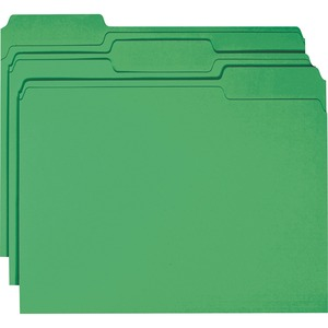 Smead 12134 Green Colored File Folders with Reinforced Tab SMD12134