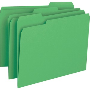 Smead 12143 Green Colored File Folders SMD12143