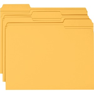 Smead 12234 Goldenrod Colored File Folders with Reinforced Tab SMD12234