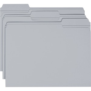Smead 12334 Gray Colored File Folders with Reinforced Tab SMD12334