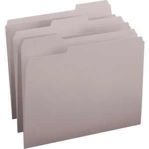 Smead 12343 Gray Colored File Folders SMD12343