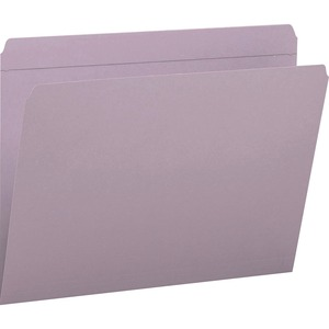 Smead 12410 Lavender Colored File Folders with Reinforced Tab SMD12410