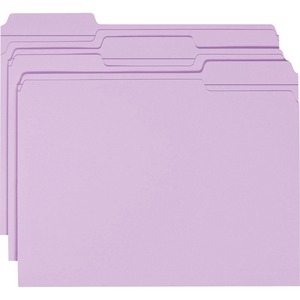 Smead 12434 Lavender Colored File Folders with Reinforced Tab SMD12434