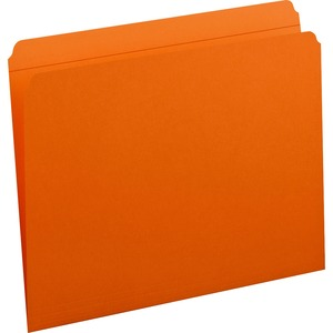 Smead 12510 Orange Colored File Folders with Reinforced Tab SMD12510