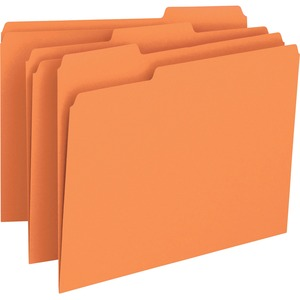 Smead 12543 Orange Colored File Folders SMD12543